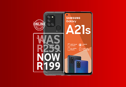 Save R1 440 on the Galaxy A21s