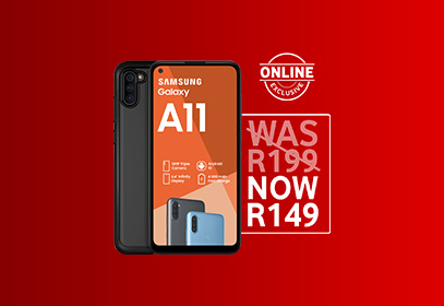 Save R1 200 on the Galaxy A11